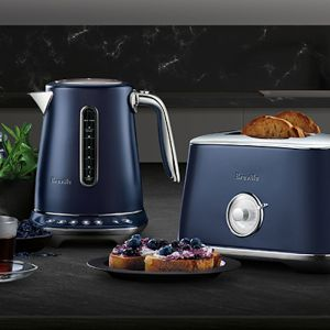 Breville Luxe Collection Toaster & Kettle Set | Damson Blue