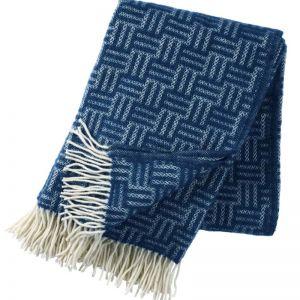 Brick Wool Blanket   Navy
