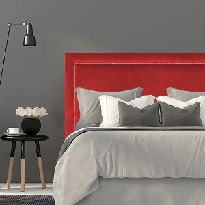 Bright Red Velvet Studded Upholstered Bedhead | All Sizes | Custom Made by Martini Furniture