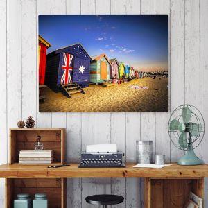 Brighton Beach Bathing Box Sunset   Photographic Print & Canvas I Limited Edition