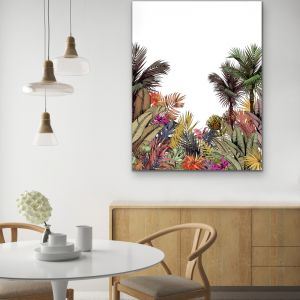 Brisbane | Tropical Jungle Palm Garden Stretched Canvas Print