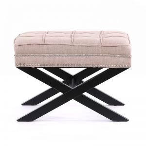 Brooke Ottoman Stools | Dusty Pink | by Black Mango