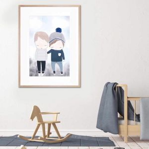 Brothers | Framed Print By United Interiors
