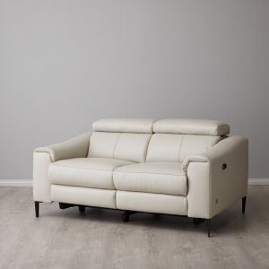 Bruce 2 Seater Electric Recliner | Leather | Stone