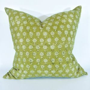 Bruges Block Print Heavy-weight Cushion    Pure Linen