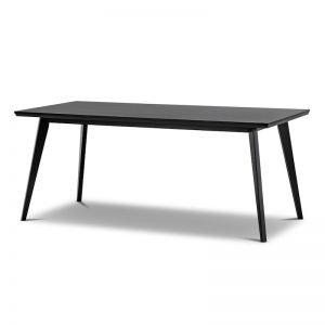 Bruno 1.8m Dining Table   Black Oak   PRE-ORDER