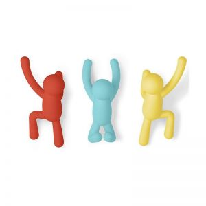 Buddy Wall Coat Hooks | Set of 3 | Multicolour | CLU Living