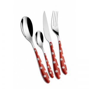 Bugatti Pois 24pc Cutlery Set | Red