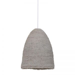 Bungalow 1 Light Pendant in White Wash | By Beacon Lighting