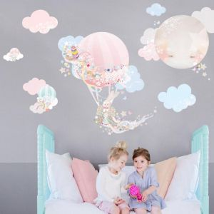 Bunny and the Magical Balloon Wall Sticker by Schmooks