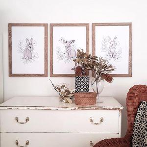 Bunny prints, Easter bunnies, Kids Art prints