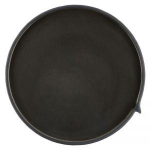 Burlap Round Tray | Large Black