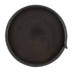 Burlap Round Tray | Small Black