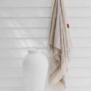 Burleigh 100% Merino Wool Throw | Beige | Huxford Grove