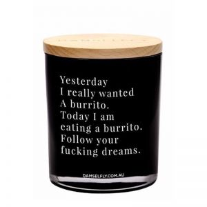 Burrito Dreams | XL Candle | by Damselfly
