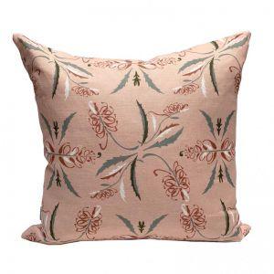 Bush Grevillia Blush Linen Cushion | By Tim Neve