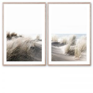 By The Dunes #1 and #2 Pair | Framed Giclee Art Print by Wall Style