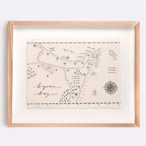 Byron Bay Map Illustration | Print by Adrianne Design