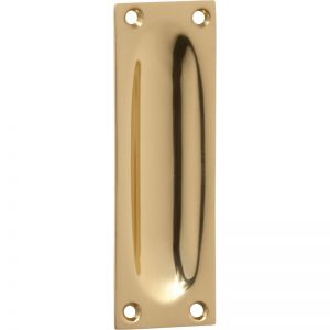 Cabinet Flush Pull | Polished Brass | Schots