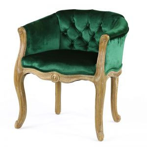 Cabriole Elizabeth Chair | Emerald | by Black Mango