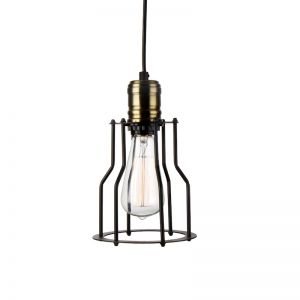 Cage Filament Pendant Aged Steel