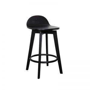 Calay Stool   Black Timber   Bohemio Furniture