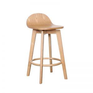 Calay Stool   Natural Timber   Bohemio Furniture