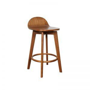 Calay Stool   Teak Stain Timber   Bohemio Furniture