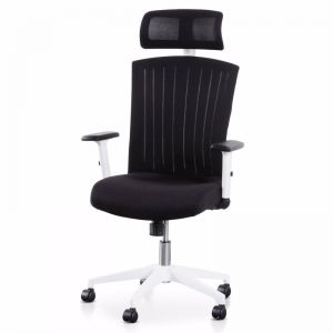Caleb Mesh Office Chair | Black and White