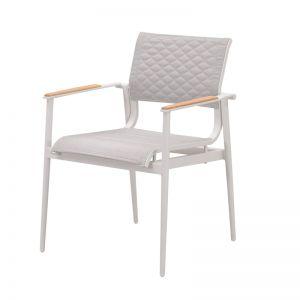 California Dining Arm Chair   White
