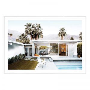 Californian Pool House | Framed Art Print