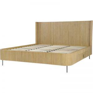 Calissa King Bed Frame | Natural Oak | Schots