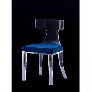 Cambridge Lucite Acrylic T-type Backrest Dining Chair | Customisable