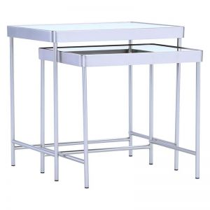 CAMEO Nest of 2 Tables | Mirror Top