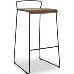 CAMILA Bar Stool - Walnut