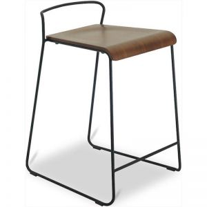 CAMILA Counter Stool - Walnut