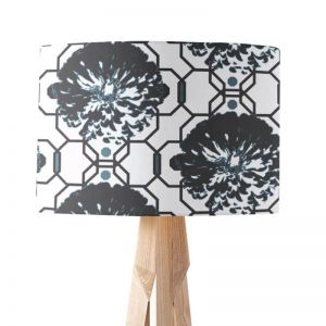 Camilla Charcoal | Paper Lampshade | Various Sizes | Amba Florette