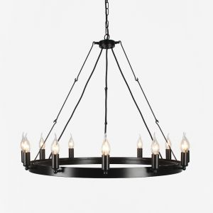 Camino 12 Light Metal Round Chandelier,   PRE-ORDER JULY 2021 ARRIVAL