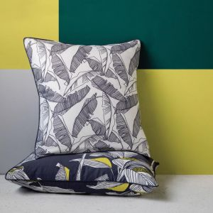Cammeray Euro Pillowcase Charcoal Square | by Kas Australia