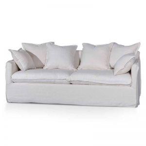 Candice 3 Seater Fabric Sofa | Linen Beige