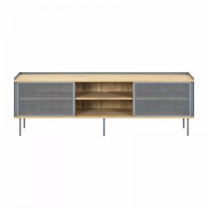 Cape TV Unit | Oak and Blue Grey