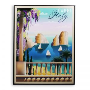 Capri Vintage | 60x80cm | Outdoor UV Wall Art with Aluminium Frame