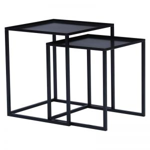 Cariad Nest Of 2 Tables | Black