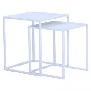 CARIAD Nest of 2 Tables Square | White Colour
