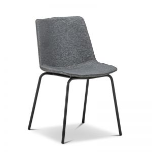 Carlie Fabric Dining/Side Chair | Charcoal Grey | Set of 2