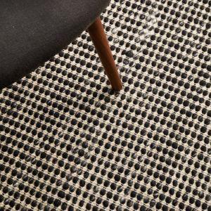 Carlos Felted Wool Rug | Black Natural