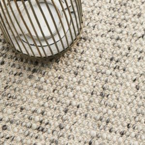 Carlos Felted Wool Rug | Grey Natural