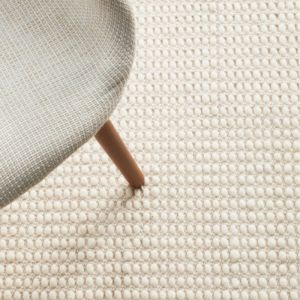 Carlos Felted Wool Rug   Off White Natural - Pre Order for January 2022