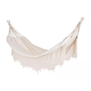 Carmen 100% Cotton Crochet Hammock - Single | Fab Habitat