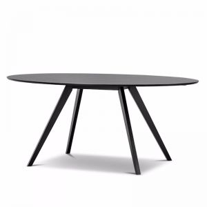 Carol Dining Table, Black Oak